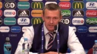 Post match press conference with England U21 manager Aidy Boothroyd after his side reach the semifinals of the Under 21 European Championships by...