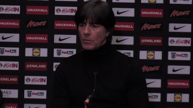 Post match press conference with Germany manager Joachim Low following their 00 draw against England at Wembley