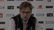 Post match press conference with Liverpool manager Jurgen Klopp after his side lost 01 to Southampton at Anfield