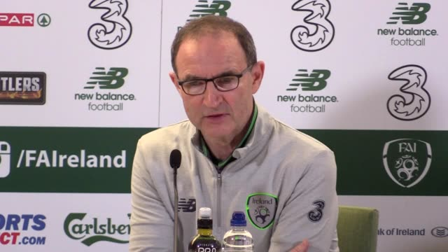 Post match press conference with Republic of Ireland manager Martin O'Neill after his side lost 15 to Denmark in their World Cup qualification...