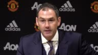 Post match press conference with Swansea manager Paul Clement after his side's 1 1 draw with Manchester United in the Premier League Gylfi...
