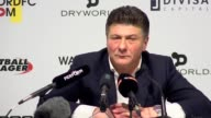Post match press conference with Watford manager Walter Mazzarri after his side's 5 0 loss to Manchester City on the final day of the Premier League...