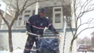 WGN Postal Workers In The Snow on February 02 2011 in Chicago Illinois
