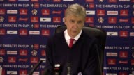 Postmatch press conference with Arsenal manager Arsene Wenger after their staggering 50 win in the 4th round FA CUP match against Southampton