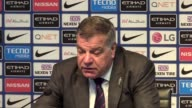 Postmatch press conference with Crystal Palace manager Sam Allardyce after a 50 thrashing by Manchester City