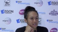 Postmatch press conference with Heather Watson after she wins her quarterfinal match against Barbora Strýcová in the Eastbourne International