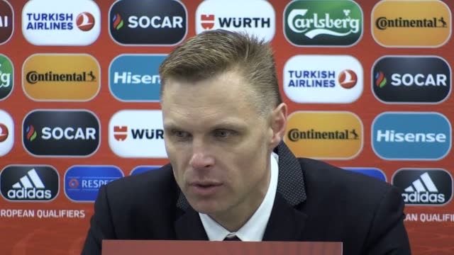 Postmatch press conference with Lithuania manager Edgaras Jankauskas following his team's 10 defeat to England
