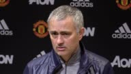Postmatch press conference with Manchester United manager Jose Mourinho after their 11 draw with Bournemouth at home