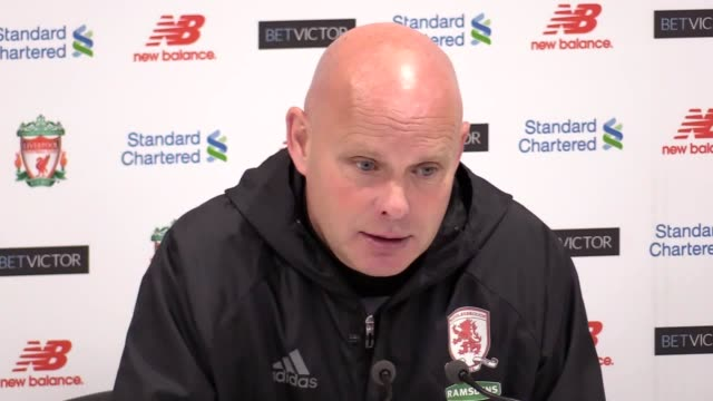 Postmatch press conference with Middlesbrough caretaker manager Steve Agnew following their 30 loss to Liverpool on the final day of the Premier...