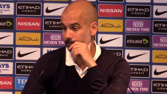 Postmatch press conference with Pep Guardiola after his side thrashed Liverpool 50 He talks about the red card giving his side an advantage in the...
