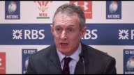 Postmatch press conference with Rob Howley after Wales lose to England 1621 in the Rugby Union Six Nations match at the Principality Stadium Wales
