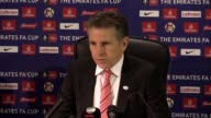 Postmatch press conference with Southampton manager Claude Puel after their staggering 50 loss in the 4th round FA CUP match against Arsenal