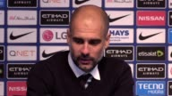 Postmatch reaction from Manchester City manager Pep Guardiola after his side drew with Manchester United in the Premier League