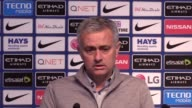 Postmatch reaction from Manchester United manager Jose Mourinho after his side drew with Manchester City in the Premier League