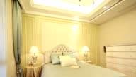 Postmodern Luxus Schlafzimmer und Dekoration, Echtzeit.