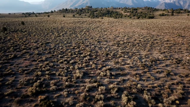 Na zonsopgang licht Over aride gebied in Californië