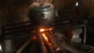 Pot on a wood stove with fire_highlevel