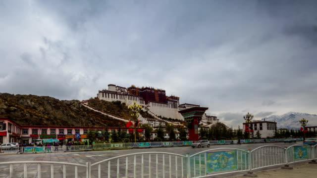 Potala Palace HD Timelapse. Lhasa. Tibet. China