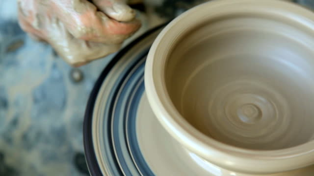 Potter creating