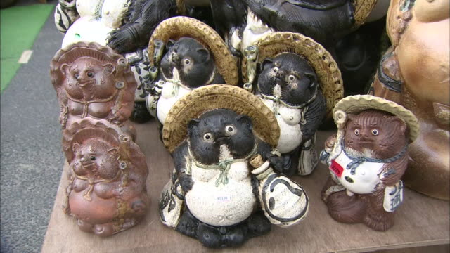 Pottery Of Raccoon Dog,Shigaraki Ware, Japan