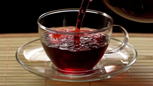 Pouring A Hibiscus Tea (Super Slow Motion)