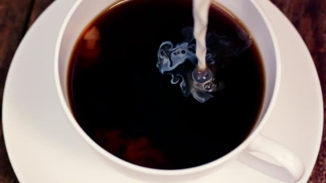 Pouring Coffee into Coffee Cup - Slow Motion