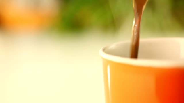 Pouring fresh coffee,HD 1080