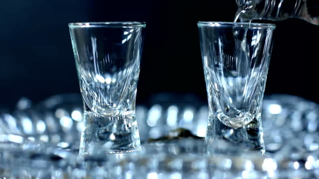 Pouring vodka crystal