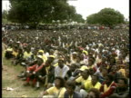 Poverty deepens as drought leaves millions in danger of starvation TX United Democratic Front party rally during Malawi's first free election Bakili...