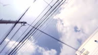 power line - look up at the sky
