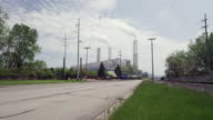 power plant and smoke stacks time lapse