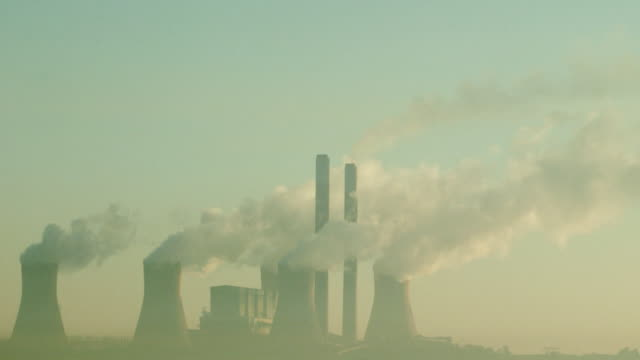 Power Station burning coal to create electricity