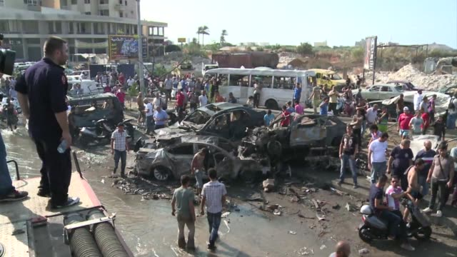 Powerful car bombs exploded Friday outside two Sunni mosques in a Lebanese city riven by strife over the war in neighbouring Syria killing 42 people...
