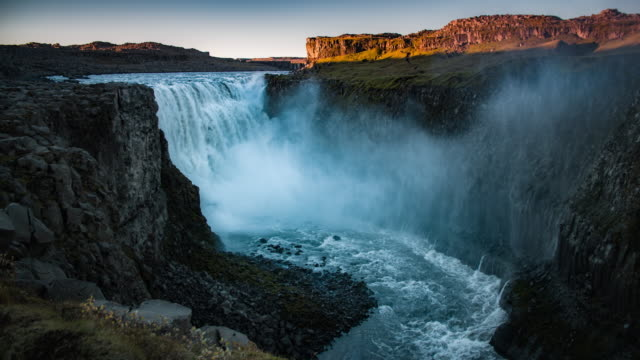 Powerful Waterfall Dettifoss in Iceland