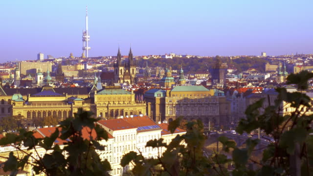 Prague Old Town With Tyn Church And The Žižkov Television Tower