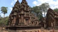 Prasat of Khmer Hindu temple Banteay Srei