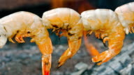 Prawn by the campfire