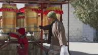 Prayer Wheel in Lhasa, Tibet