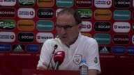 Pre match press conference with Republic of Ireland manager Martin O'Neill and winger James McClean at the Boris Paichadze Dinamo Arena in Tbilisi...