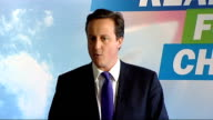 David Cameron reaction speech ENGLAND London Westminster INT David Cameron MP speech SOT Wanted to get you all together today to talk about what...