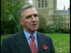 Westminster Malcolm Bruce MP interview SOT must do all he can to bring down interest rates Downing Street Jack Cunningham MP towards out of Number 10...