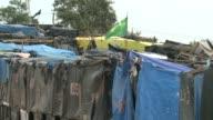 Precarias construcciones componen Nueva Palestina un campamento ilegal donde miles de familias dicen luchar por un hogar en Sao Paulo la ciudad con...