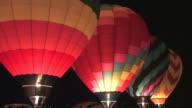 Pre-Dawn Hot Air Balloons Glowing