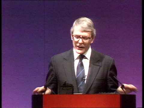 PreGeneral Election sparring CMS PM John Major MP speech SOF I left school at 16 and I was luckier than many/ I want employers to help young people...