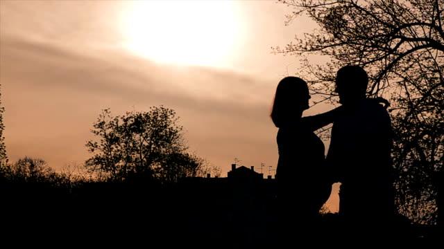 pregnant women, silhouette