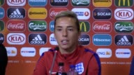 Prematch press conference with England women's midfielder Jordan Nobbs and manager Mark Sampson ahead of their semifinal in the 2017 European...