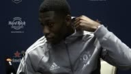 Prematch press conference with Manchester United midfielder Timothy FosuMensah ahead of his side's friendly against Real Madrid in the International...