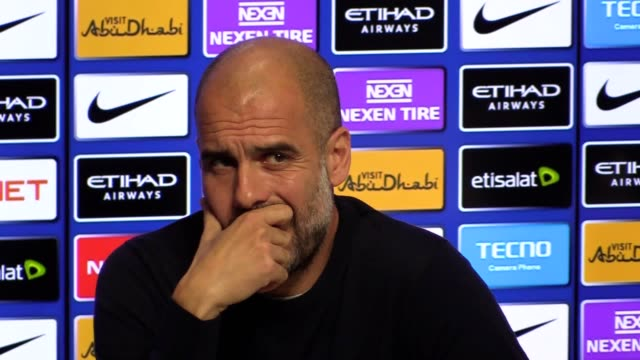 Prematch press conference with Pep Guardiola ahead of their Premier League match against Arsenal at the Etihad Stadium