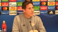Prematch press conference with Sevilla manager Eduardo Berizzo and player Guido Pizarro ahead of their Champions League group stage opener against...