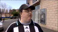 Alan Shearer package ENGLAND Newcastle St James's Park EXT Newcastle fans vox pops on Shearer as manager